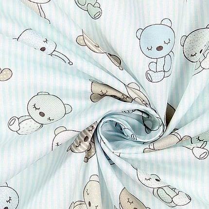 Bären hellblau – 100% Baumwolle