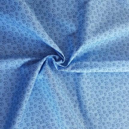 Blau Bogen – 100% Baumwolle