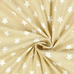 beige Sterne – 95% Baumwolle, 5% Elasthan