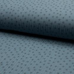 blau Sternchen Musselin – 100% Baumwolle