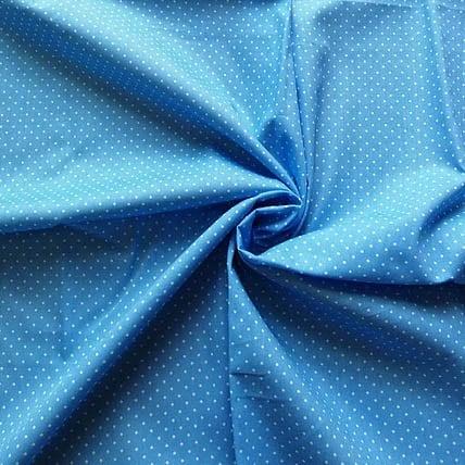 blau mit Punkten – 100% Baumwolle