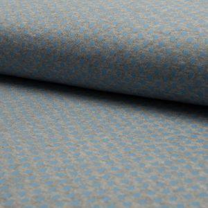 blau rib dots – Jersey – Oeketex, 95% Baumwolle, 5% Elasthan