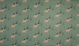 deer grün – 100% Baumwolle