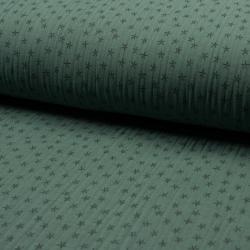 grün Sternchen Musselin – 100% Baumwolle