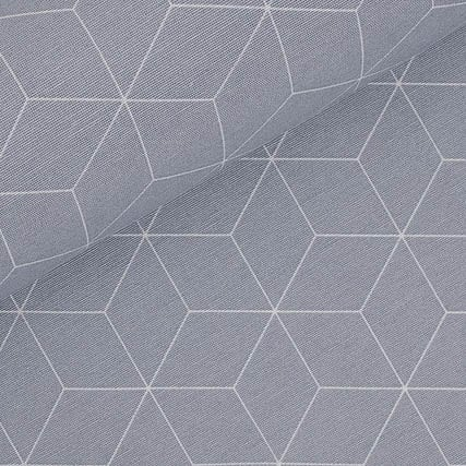 grau Geo – 100% Baumwolle