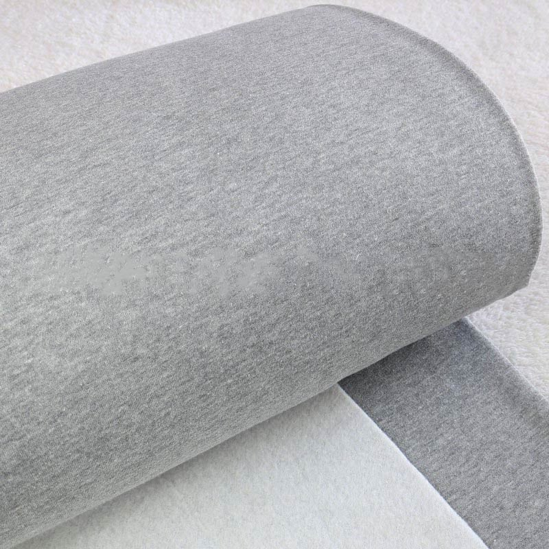 grau meliert – Ökotex 44% Baumwolle & 56% Polyester