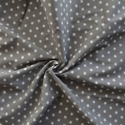 grau mit Sternen – 100% Baumwolle