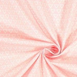 hellrosa mit weißen Dreiecken – 100% Baumwolle