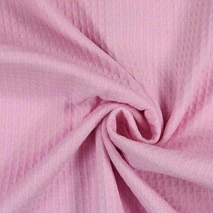 rosa Waffel – 100% Baumwolle