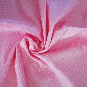 rosa mit Punkten – 100% Baumwolle