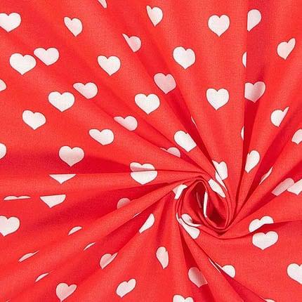 rot Herz – 100% Baumwolle