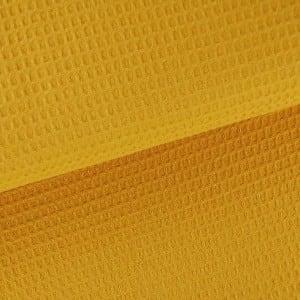 senfgelb Waffel – 100% Baumwolle