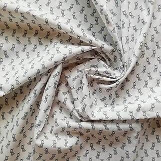 weiß mit Zebras – 100% Baumwolle