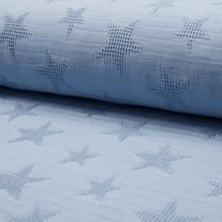 blau Stern Jaquard Waffel – 100% Baumwolle