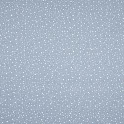 blau dashed dots mini – 100% Baumwolle