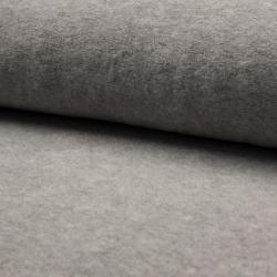 grau Baumwollfleece – 80% Baumwolle, 20% Polyester